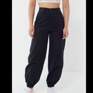 UO jordyn high rise Black jogger cargo pants